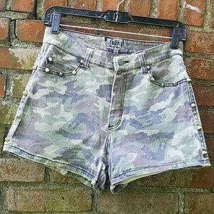 Tripp NYC Camo shorts with studs